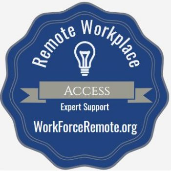 Badge: Remote Workplace Access Support
